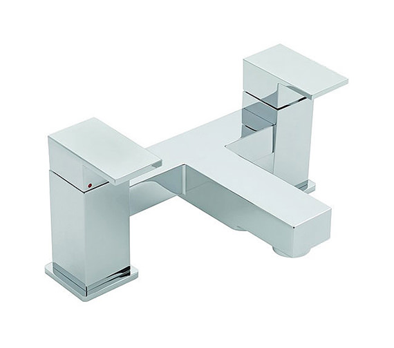Tre Mercati Edge Pillar Mounted Bath Filler Tap Chrome - 22340