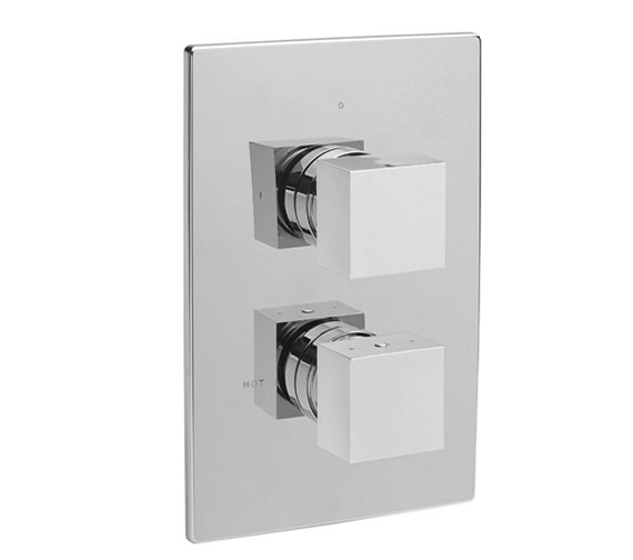 Tre Mercati Square Concealed Thermostatic 2 Way Diverter Valve