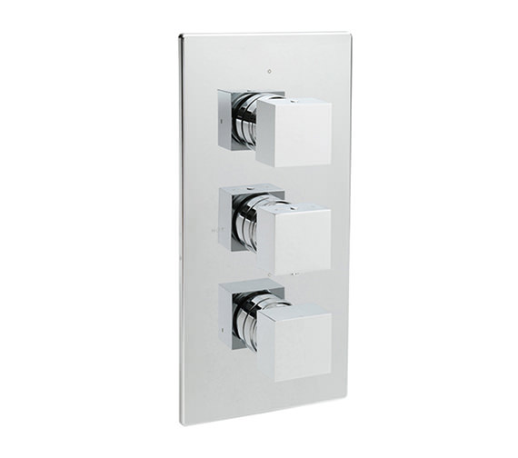 Tre Mercati Square Concealed Thermostatic 3 Way Diverter Valve