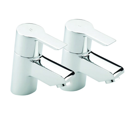 Tre Mercati Angle Pair Of Basin Tap Chrome - 22110
