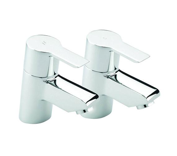 Tre Mercati Angle Pair Of Bath Tap Chrome - 22120