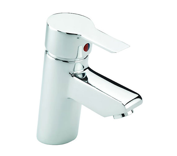 Tre Mercati Angle Mono Basin Mixer Tap With Pop Up Waste Chrome
