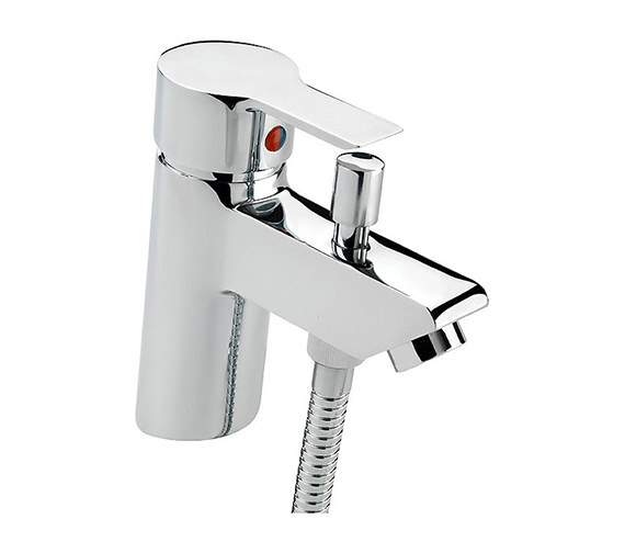 Tre Mercati Angle Bath Shower Mixer Tap With Shower Kit Chrome - 22160