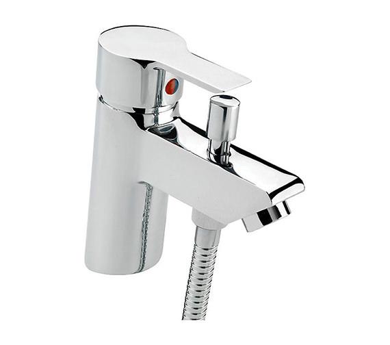 Tre Mercati Angle Bath Shower Mixer Tap With Shower Kit Chrome - 22160