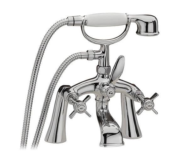 Tre Mercati Florence Pillar Bath Shower Mixer Tap And Kit Chrome