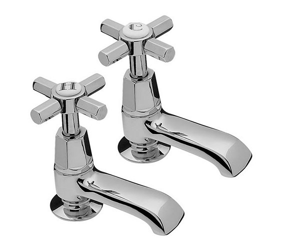 Tre Mercati Charleston Pair Of Bath Tap Chrome - 1402