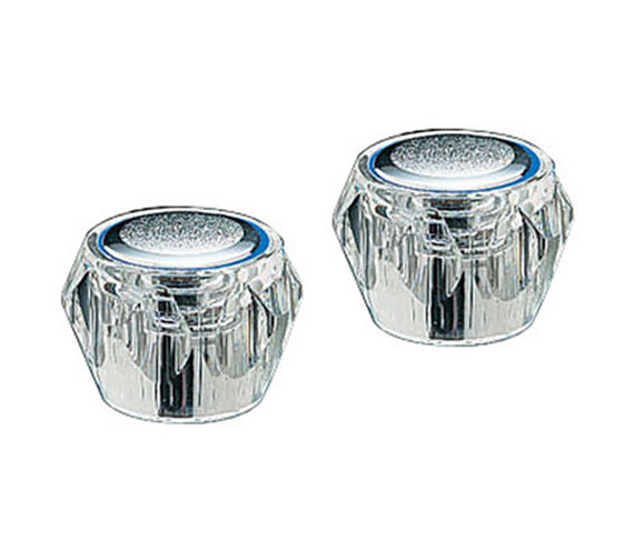 Tre Mercati Capri Pair Of Clear Head Chrome - 451