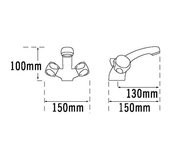 Technical drawing QS-V31522 / 316B