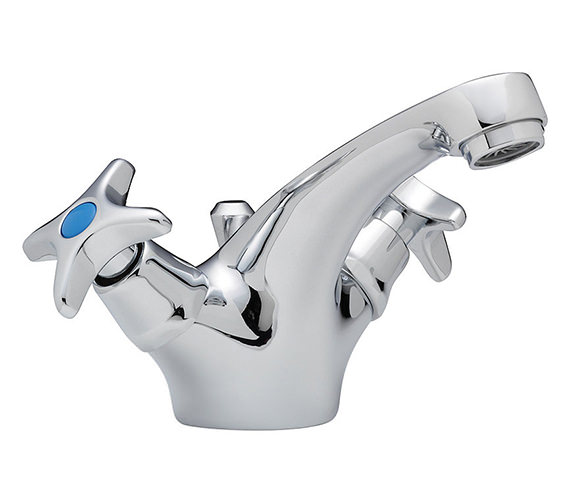 Tre Mercati Capri Crosshead Mono Basin Mixer Tap With Pop Up Waste