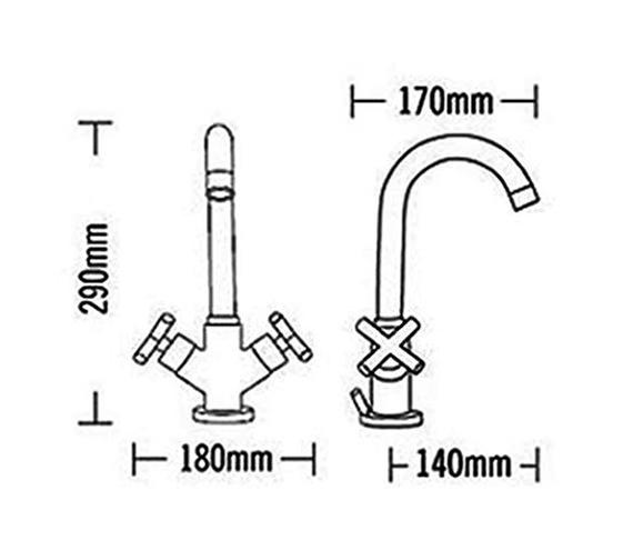 Technical drawing QS-V31553 / 68070