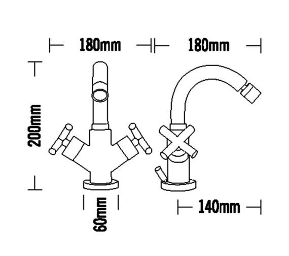 Technical drawing QS-V31555 / 68090