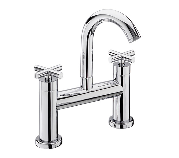 Tre Mercati Maverick Pillar Mounted Bath Filler Tap Chrome - 68030