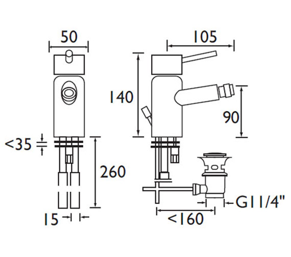 Technical drawing QS-V315 / PM BID C