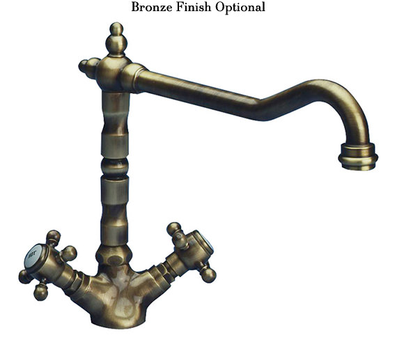 Alternate image of Astracast Camargue Monobloc Twin Cross Handle Kitchen Sink Mixer Tap