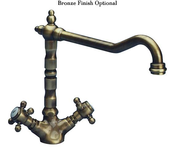 Alternate image of Astracast Camargue Monobloc Twin Cross Handle Kitchen Sink Mixer Tap