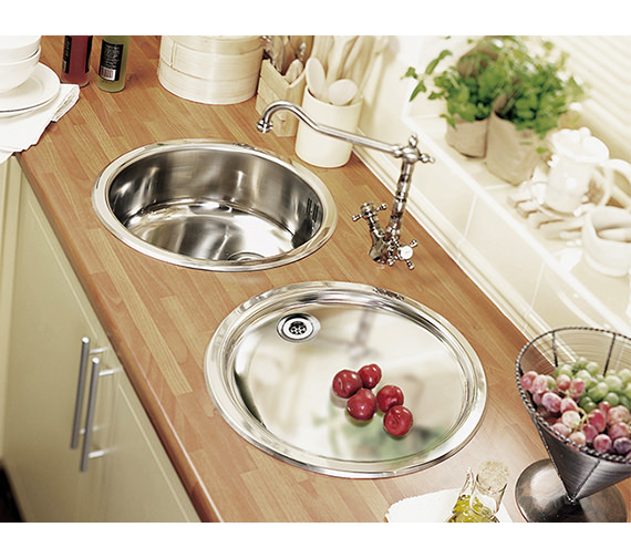 Additional image of Astracast Camargue Monobloc Twin Cross Handle Kitchen Sink Mixer Tap