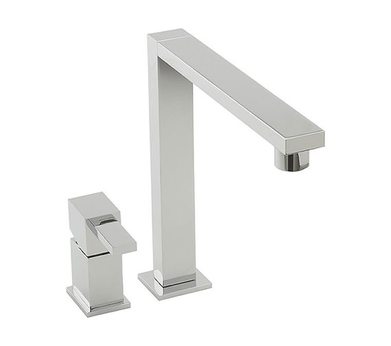 Tre Mercati Edge 2 Hole Sink Mixer Tap Chrome - 92011