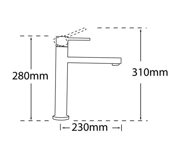 Technical drawing QS-V31652 / 22070