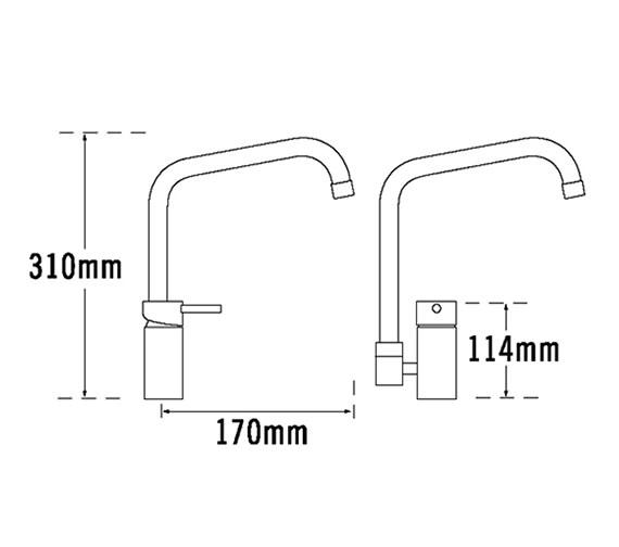 Technical drawing QS-V31657 / 67110