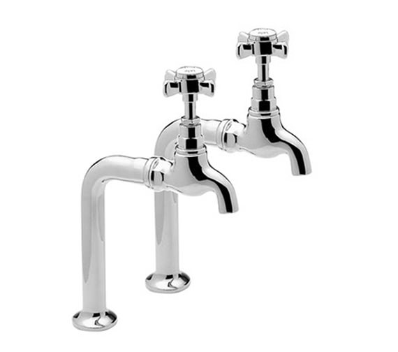 Tre Mercati Imperial Chrome Pair of Bib Taps And Stand Complete - 1067