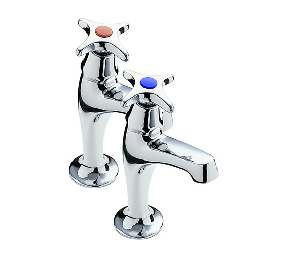 Tre Mercati Capri Crosshead High Neck Pair of Kitchen Tap - 343