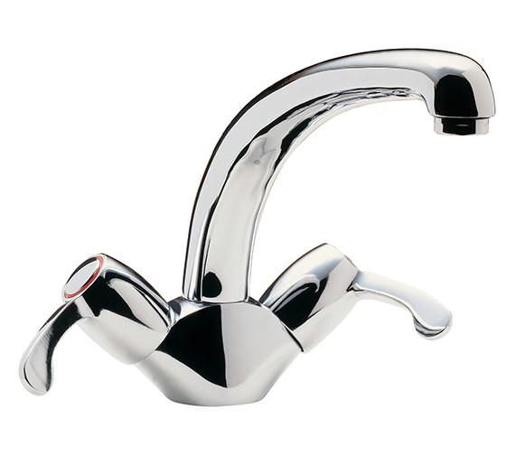 Tre Mercati Capri Lever Dual Flow Mono Sink Mixer Tap Chrome - 205