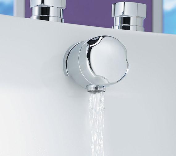 Tre Mercati 1 1-2 Inch 60cm Automatic Bath Filler Waste Chrome - 708