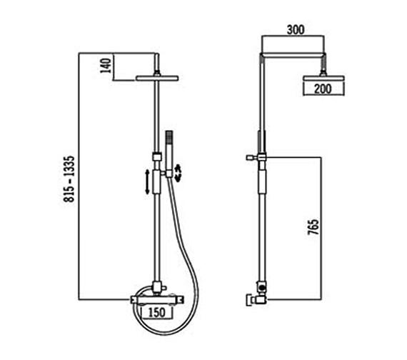 Technical drawing QS-V31841 / 50490