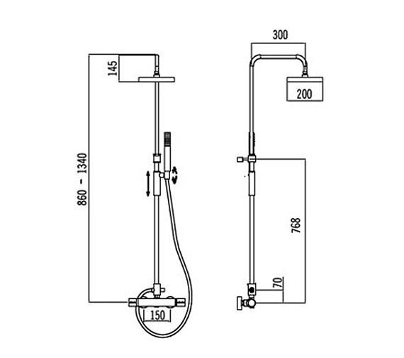 Technical drawing QS-V31842 / 50480