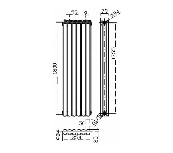 Technical drawing QS-V31971 / HL326