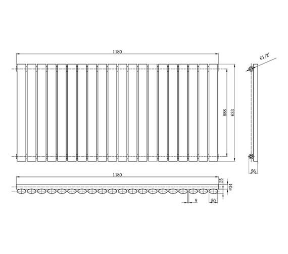 Technical drawing QS-V31976 / HL325