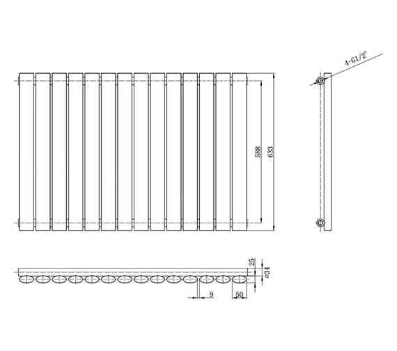 Technical drawing QS-V31977 / HL324