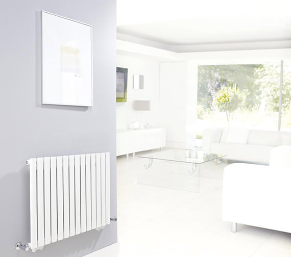 Additional image of Hudson Reed Revive Single Panel Small White Radiator - HL324