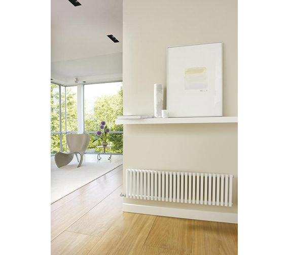 Additional image of Hudson Reed Refresh Designer Radiator White 1064 x 300mm - HLW22