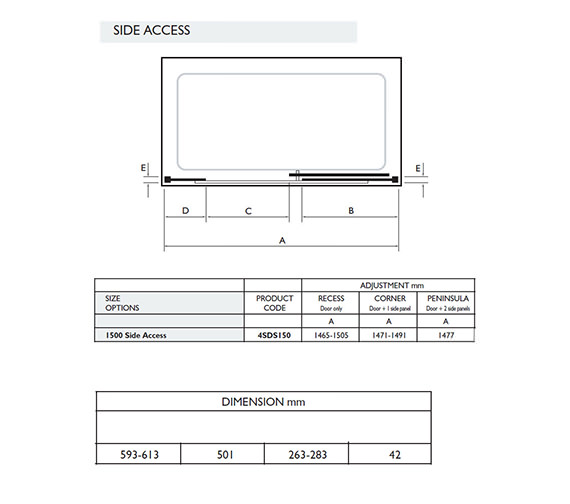 Technical drawing QS-V32001 / 4SDS150S