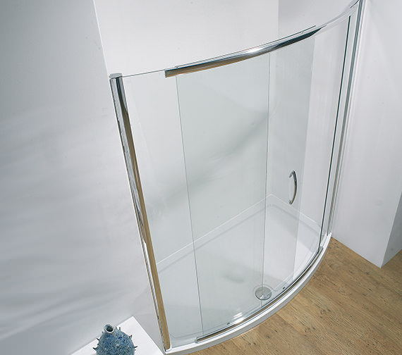Kudos Infinite 1500 x 1900mm Bowed Slider Door Side Access