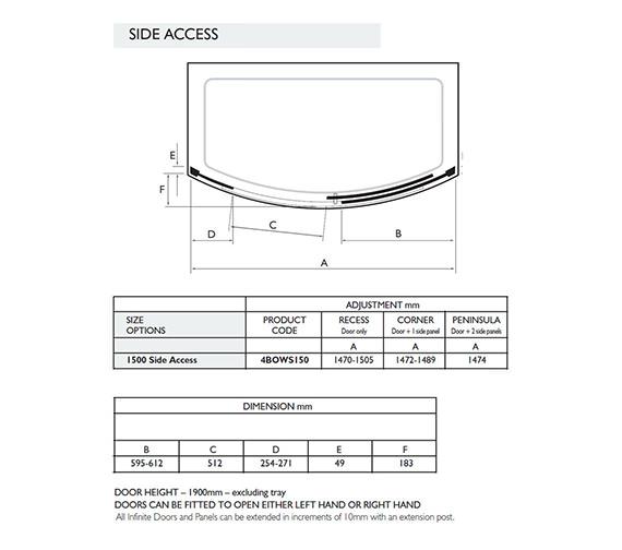 Technical drawing QS-V32004 / 4BOWS150S