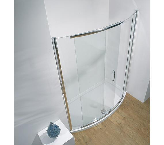 Kudos Infinite 1700mm Bowed Slider Shower Door With Side Access
