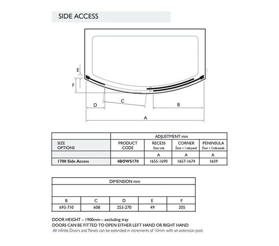 Technical drawing QS-V32005 / 4BOWS170S
