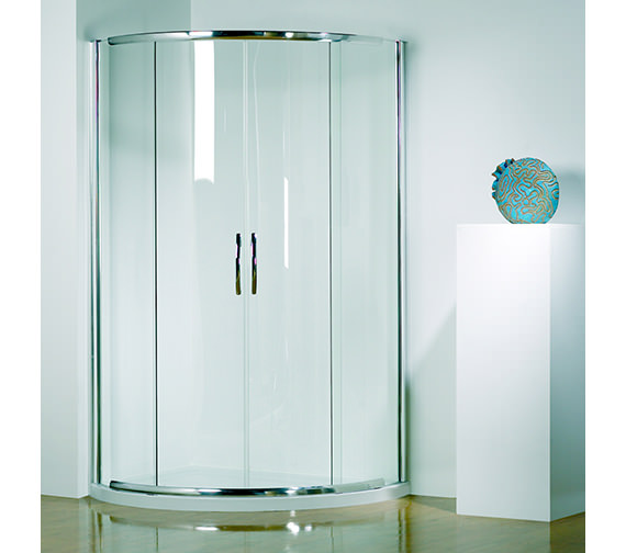 Infinite 910mm Double Slider Door Center Access With Tray And Waste