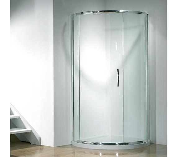 Kudos Infinite 1000mm Curved Slider Shower Door Side Access