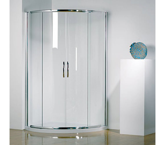 Kudos Infinite 1000mm Curved Slider Double Door Centre Access