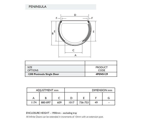 Technical drawing QS-V32016 / 4PENS129S
