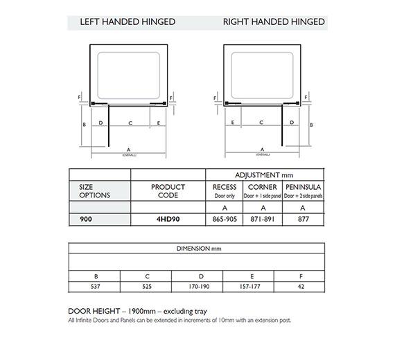 Technical drawing QS-V32019 / 4HD90LHS