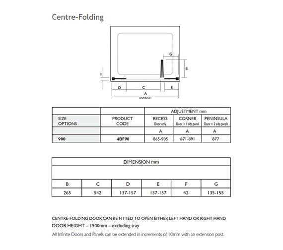 Technical drawing QS-V32023 / 4BF90S