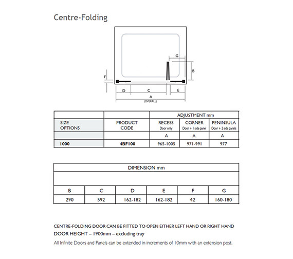 Technical drawing QS-V32024 / 4BF100S