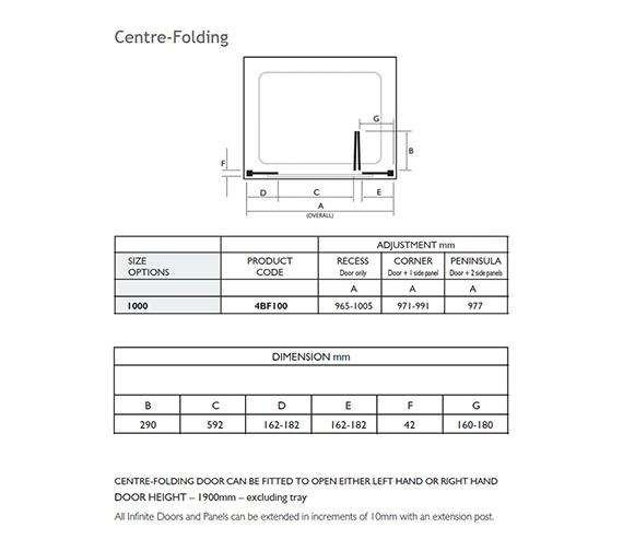 Technical drawing QS-V32024 / 4BF100S