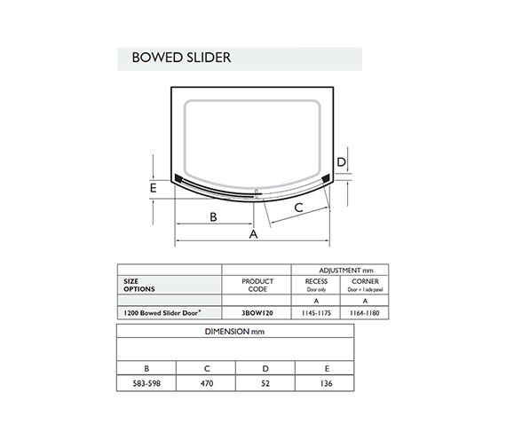 Technical drawing QS-V32037 / 3BOW120W