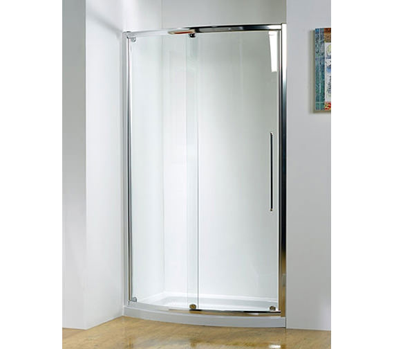Additional image of Kudos Original 1200mm White Bowed Sliding Door With Tray And Waste