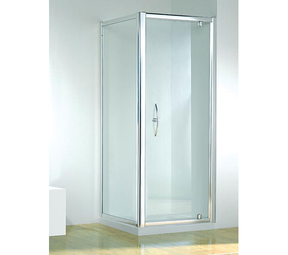 Kudos Original 800mm White Straight Pivot Door With Tray And Waste